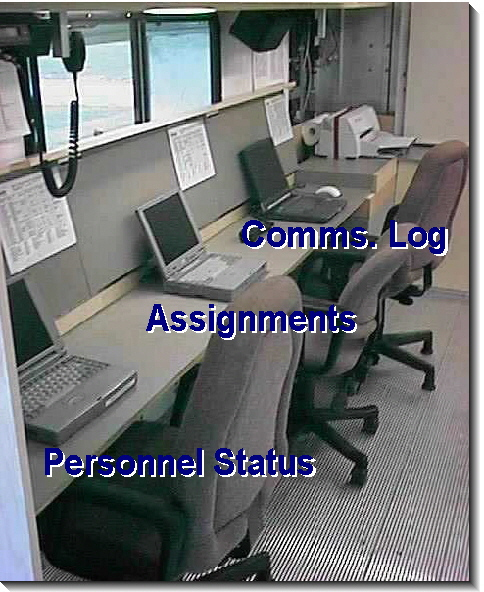 Command Vehicle Computer Bench