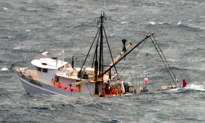 Fishing Boat Waiting For Rescue
