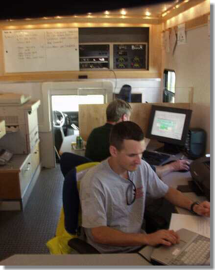 'Incident Commander' software in Mobile Command Post