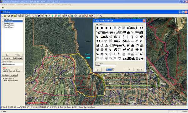 'Incident Commander' software - GIS Overview