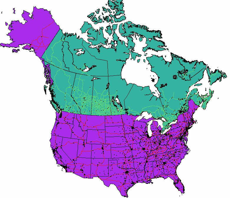 Map of Canada And Usa With Cities Usa Canada Map-files