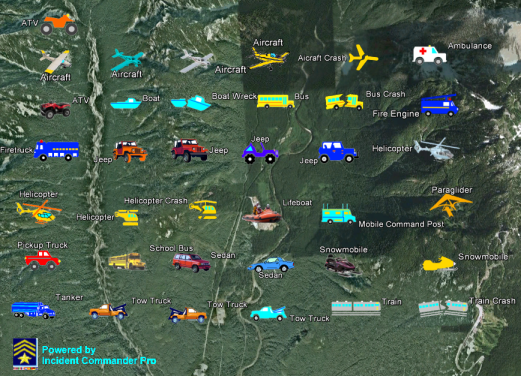 Vehicle Tracking Device >> SAR Technology - Tactical Map Symbols